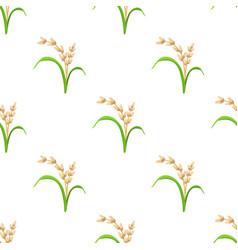 rice plant vegetarian food seamless pattern vector image