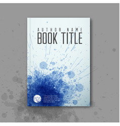 Modern abstractbook cover template vector