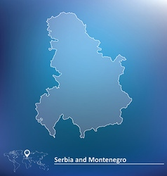 Map of serbia and montenegro vector
