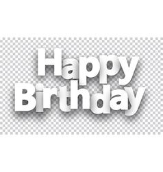 Happy birthday paper sign vector