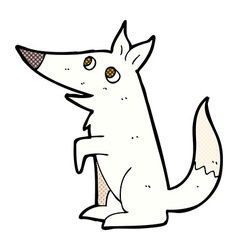 Comic cartoon wolf cub vector