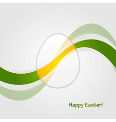 Abstract easter background with bright waves vector