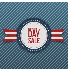 Presidents day sale white and blue banner vector