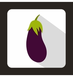 Eggplant icon in flat style vector