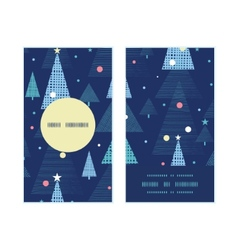 Abstract holiday christmas trees vertical round vector