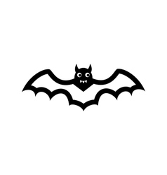 Bat icon isolated on white background vector image vector image
