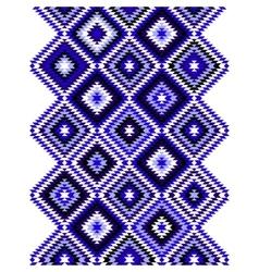 Black blue and white aztec ornaments geometric vector