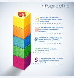 business diagram infographic vector image vector image