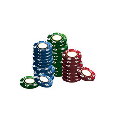 casino chips stacks pile poker image vector image vector image