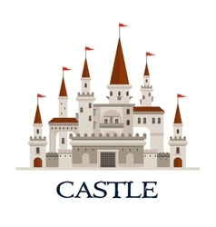 Castle fortress symbol for architecture design vector image vector image