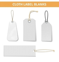 Clothes label tags set vector