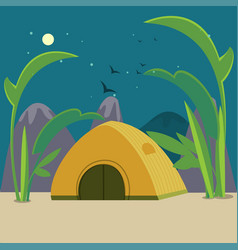 Colorful camping background vector