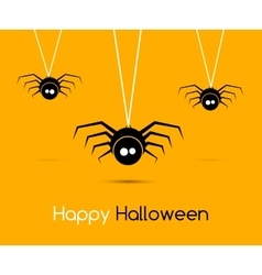 Cute funny spiders and cobweb for vector