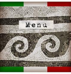 Dark brown marble-stone mosaic menu vector image