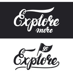 Explore more hand written lettering typography vector image vector image
