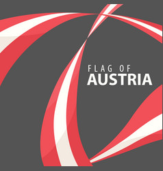 flag of austria against a dark background vector image vector image