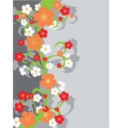 Floral background with flowers vector image vector image