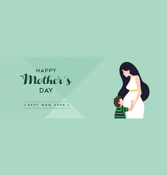 happy mothers day pregnant mom banner vector image vector image
