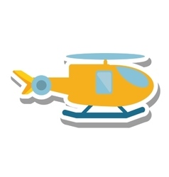 helicopter vehicle flying isolated icon vector image