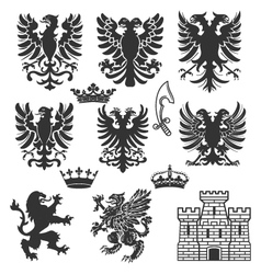 heraldry design elements vector image