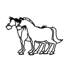 horse domestic animal farming agricultural vector image