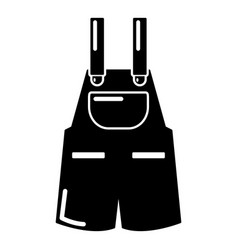 Jumpsuit icon simple black style vector