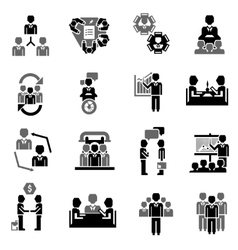 Meeting Icon Black vector image