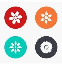 Modern flower colorful icons set vector