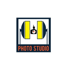 Photo studio design template vector