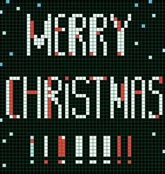 pixel merry christmas vector image