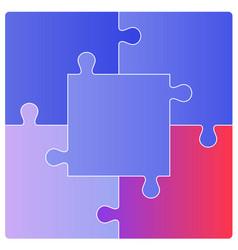 Puzzle set vector