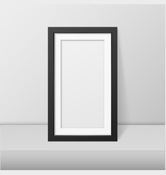 realistic blank picture frame template set vector image