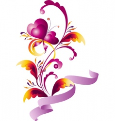 romantic floral design vector image