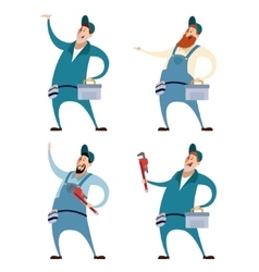 Set of Plumbers vector image