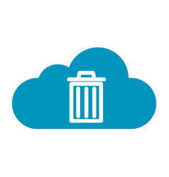 Thin line cloud recycle bin icon vector