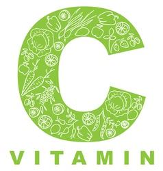 vitamin c vector image