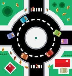 Top view roundabout vector
