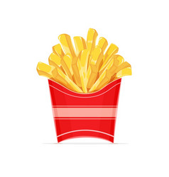 French fries potatoes in paper vector