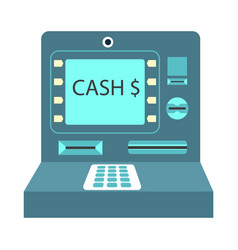 Atm cash money payment or withdrawal flat vector