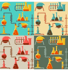 Chemistry pattern vector