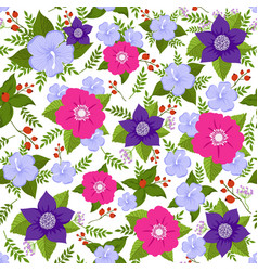 Abstract flower seamless background summer vector