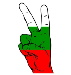 Peace sign of the bulgarian flag vector