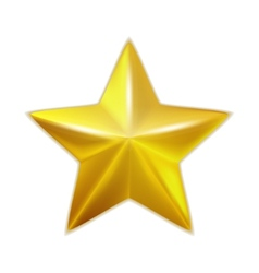 Gold star isolated vector