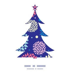 Colorful bursts christmas tree silhouette pattern vector