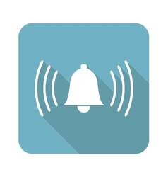 Square ringing bell icon vector