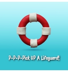 Lifebuoy on blue background vector
