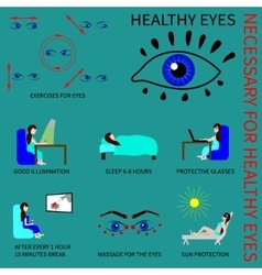 Healthy eyes infografics vector