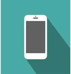 White phone standalone vector image