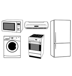 House appliances collage vector