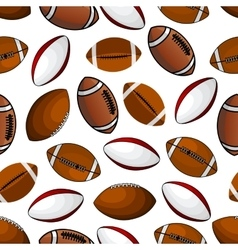 American football and rugby balls seamless pattern vector